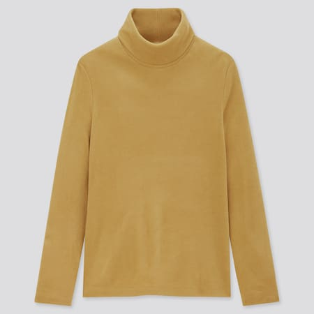 Women HEATTECH Fleece Turtleneck Thermal Top