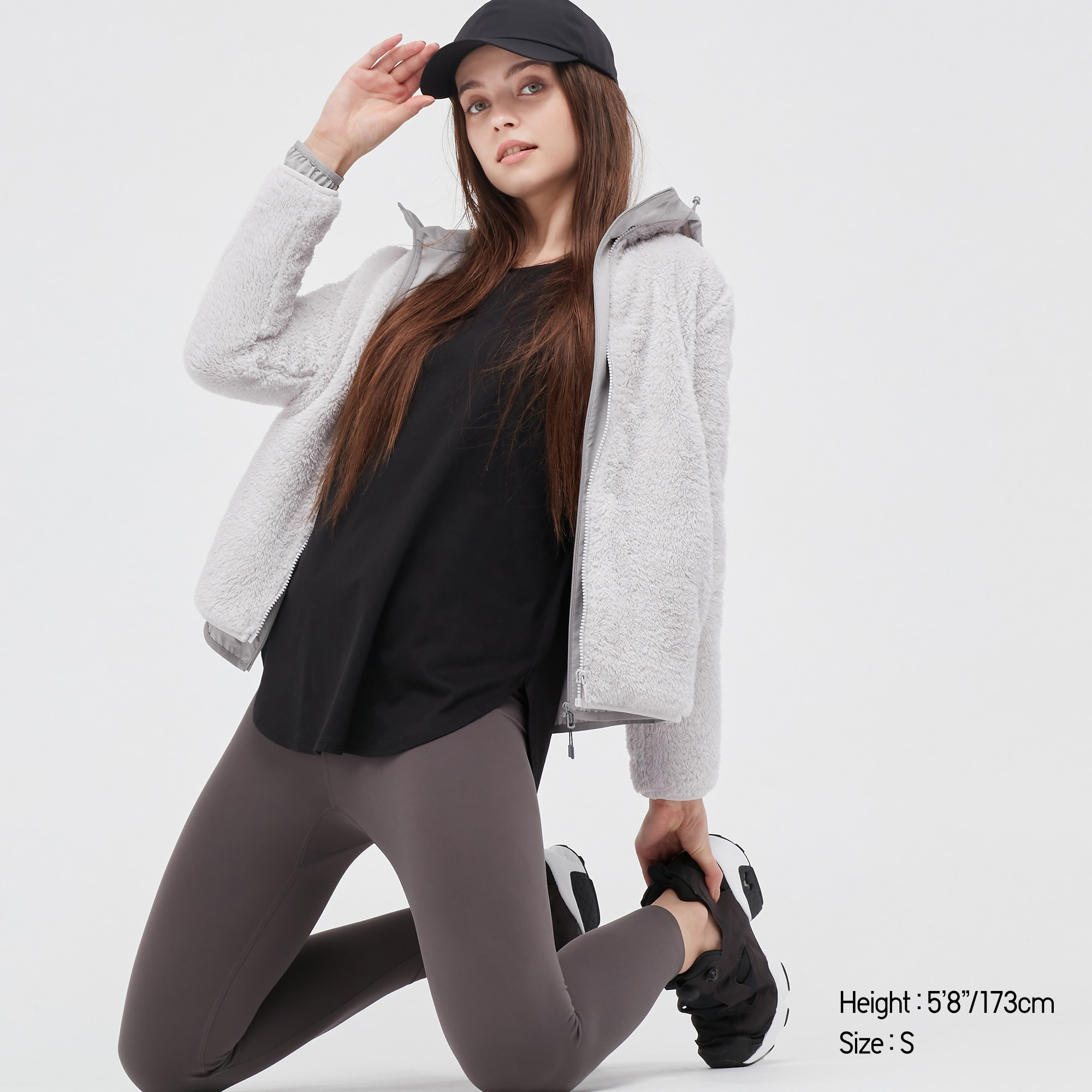 פליז יוניקלו לנשים WOMEN FLUFFY YARN FLEECE