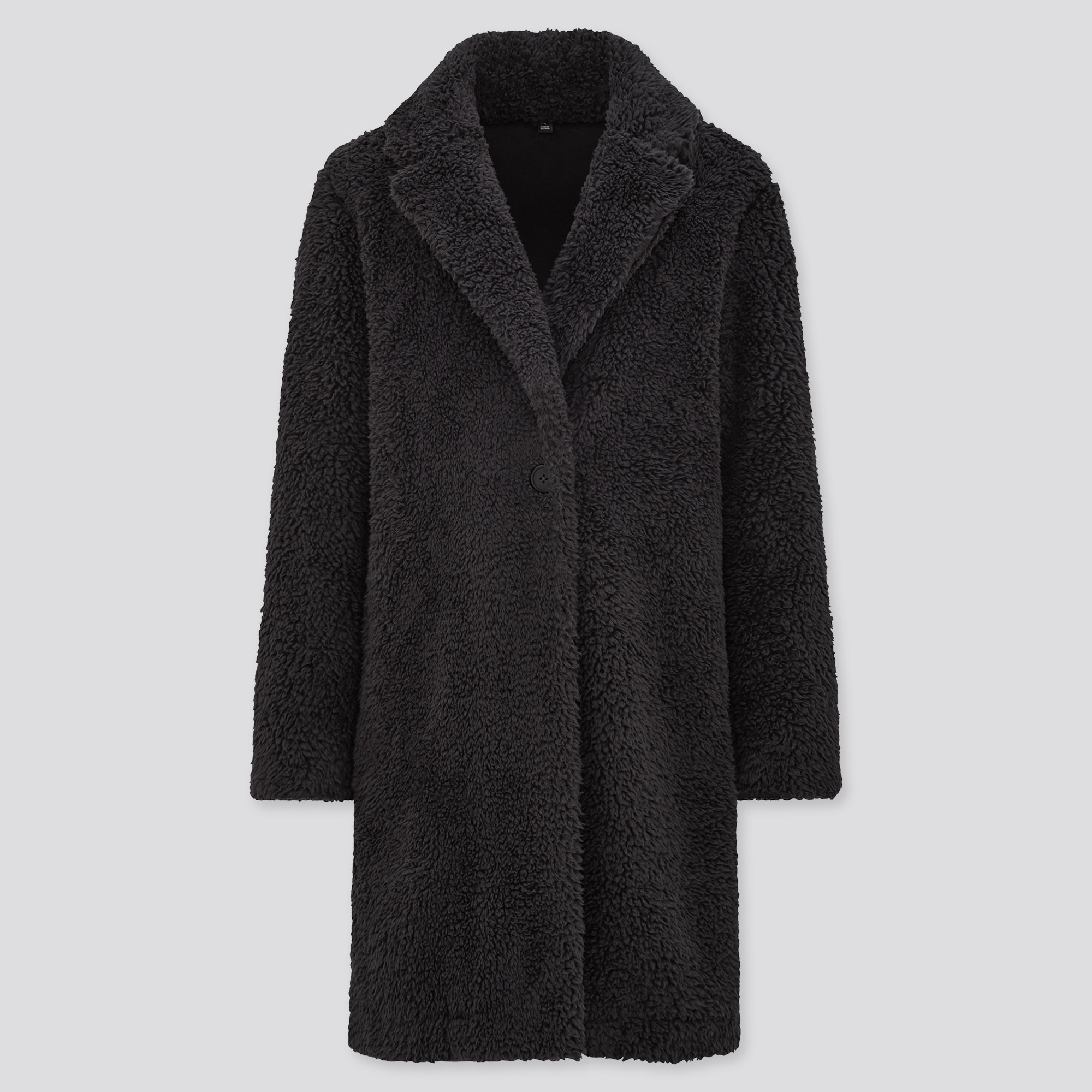 women pile-lined fleece tailored coat