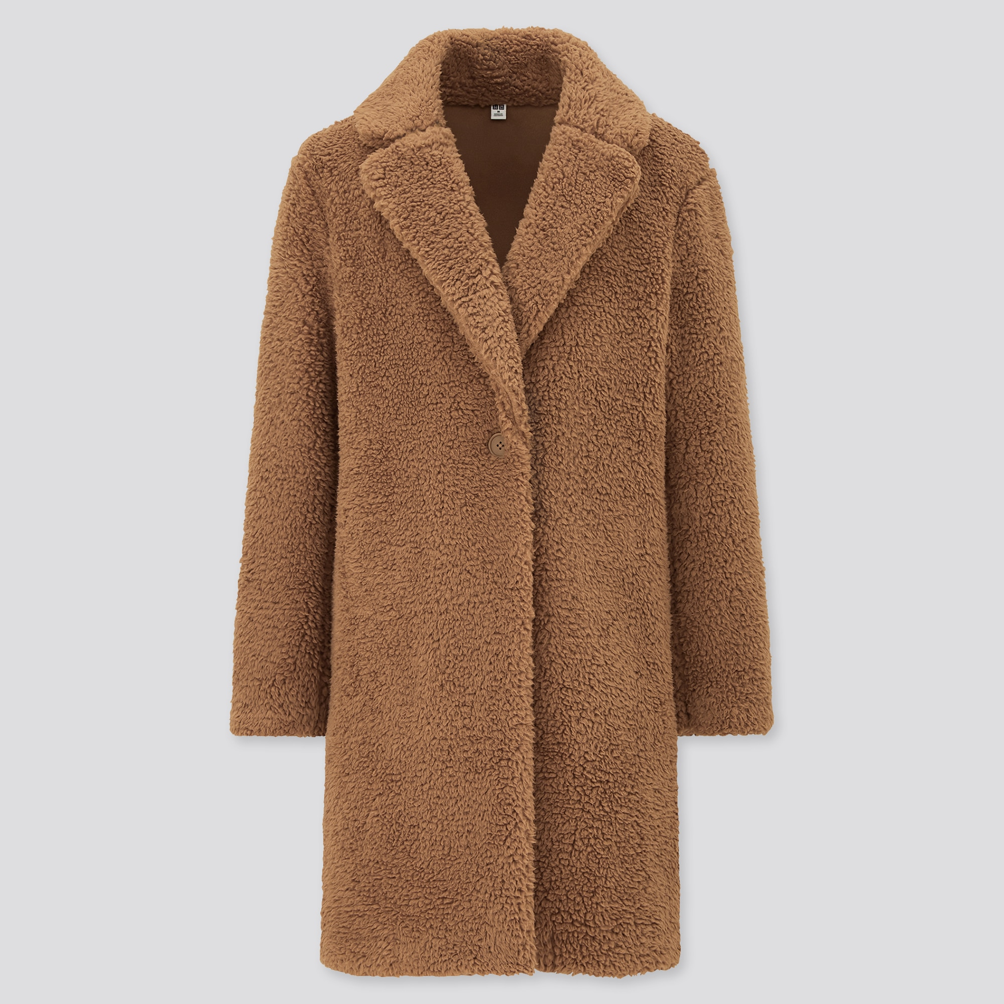 WOMEN PILE-LINED FLEECE TAILORED COAT : Color - 35 Brown, Size - M (428333)