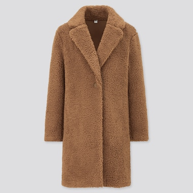 Women Lined Fleece Tailored Coat