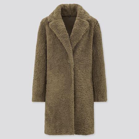Women Fleece Tailored Coat