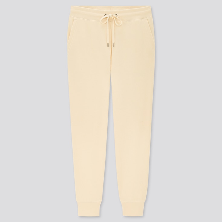 Women Sweatpants, Off White, Large