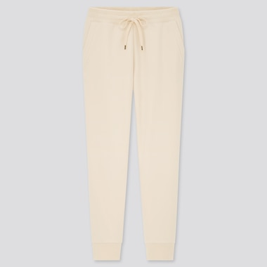 Women Pile-Lined Sweatpants, Off White, Medium