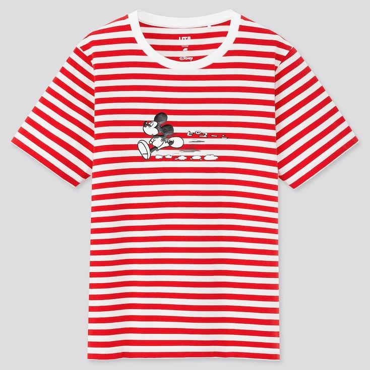 Women Mickey Manga Art Ut Osamu Tezuka  (Short-Sleeve Graphic T-Shirt), Red, Large