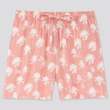 Women Mickey Aloha Relaco Shorts, Pink, Medium