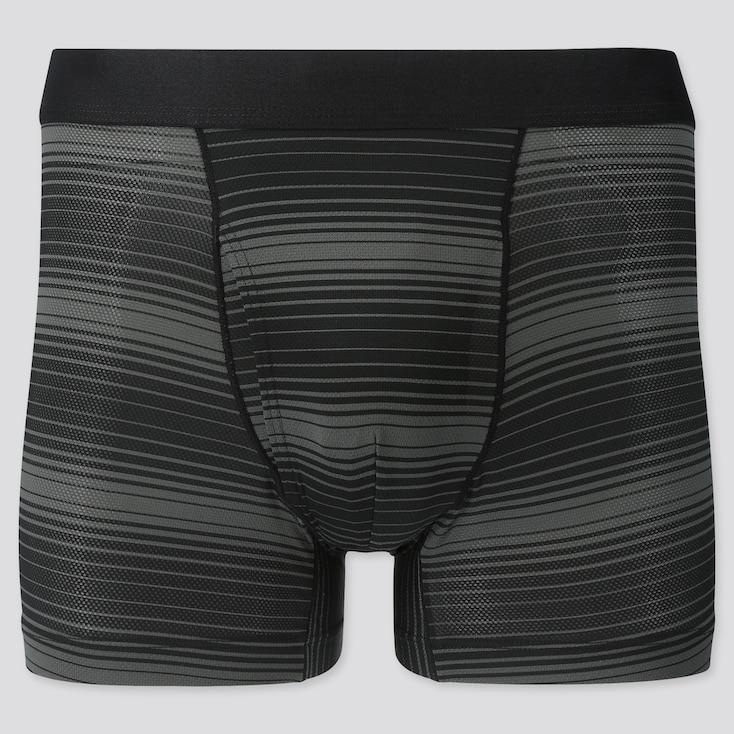 Men Airism Mesh Boxer Briefs, Black, Large