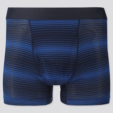 Men Airism Mesh Boxer Briefs, Blue, Medium