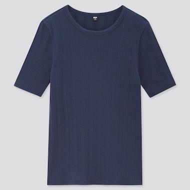 Camiseta Canalé Cuello Redondo Manga Corta Mujer