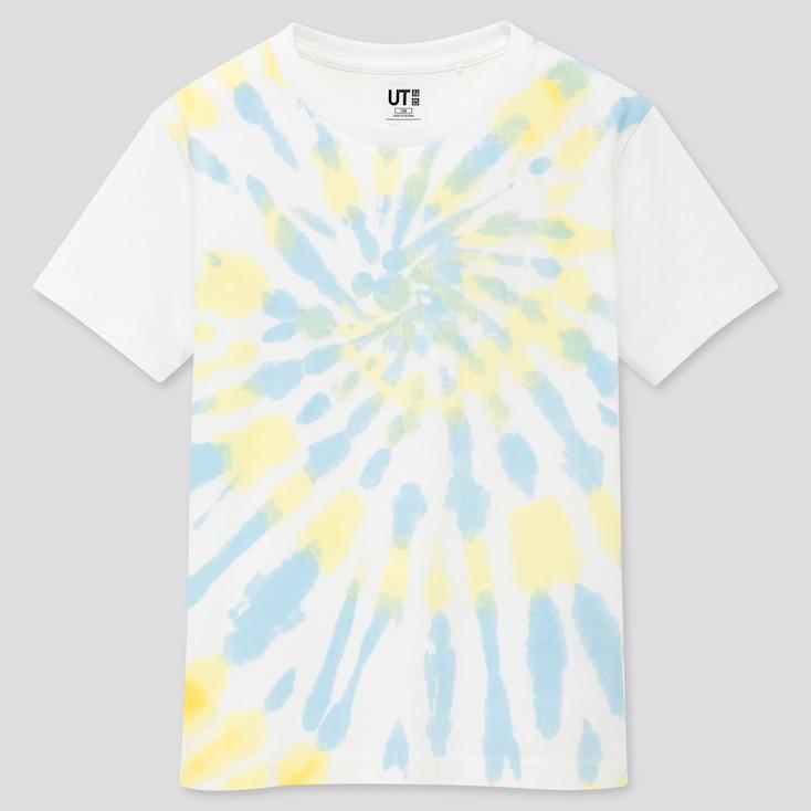 Kids Mickey Aloha Ut (Short-Sleeve Graphic T-Shirt), White, Large