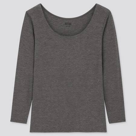 Damen HEATTECH Langarmshirt mit weitem Rundhalsausschnitt (Thermounterwäsche)