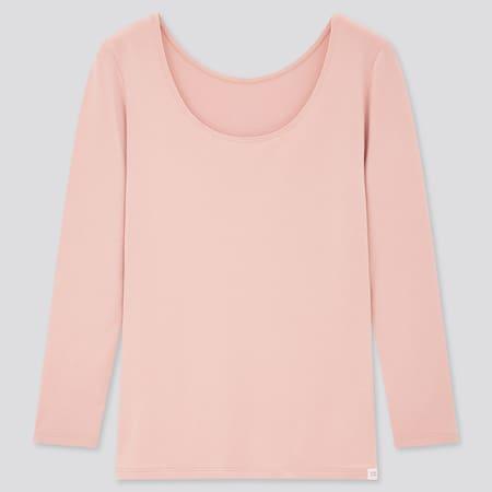 Damen HEATTECH Extra Warm Langarmshirt mit weitem Rundhalsausschnitt (Thermounterwäsche)