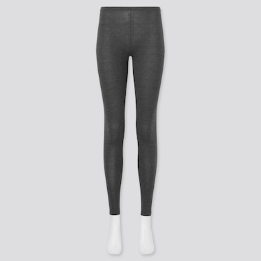 Women Heattech Leggings, Dark Gray, Medium