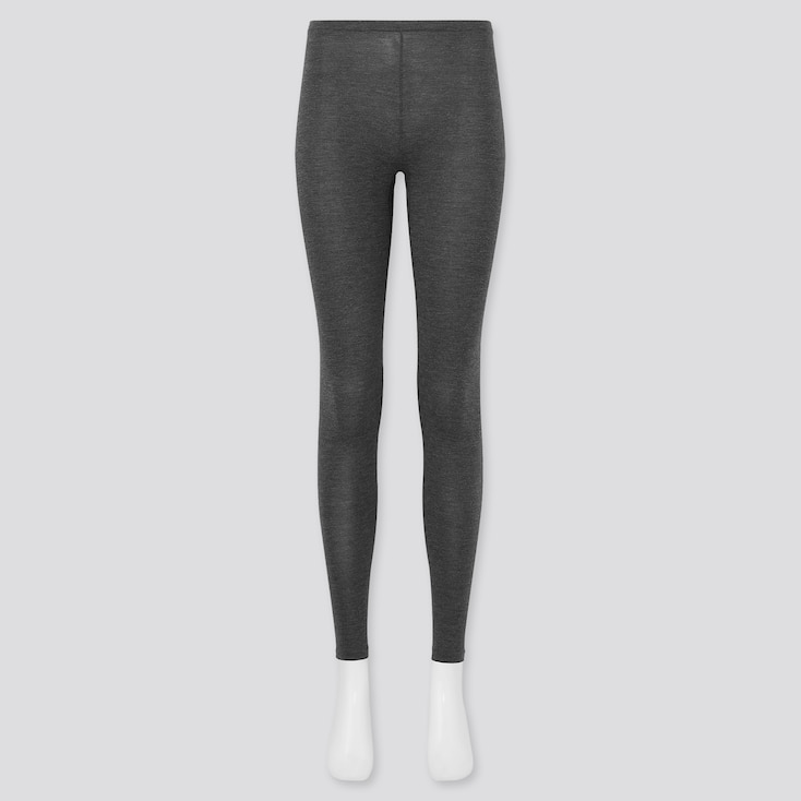 Women Heattech Leggings, Dark Gray, Large
