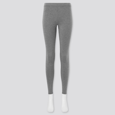 Women Heattech Extra Warm Leggings, Dark Gray, Medium