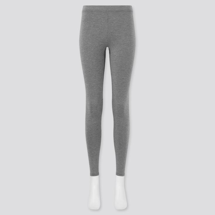 Women Heattech Extra Warm Leggings, Dark Gray, Large