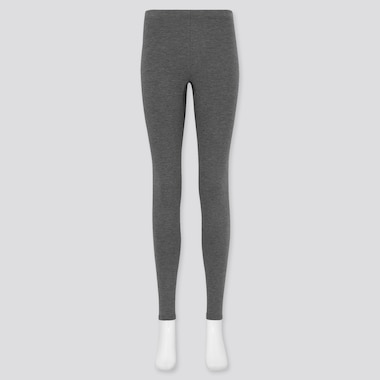 Women Heattech Ultra Warm Leggings, Dark Gray, Medium