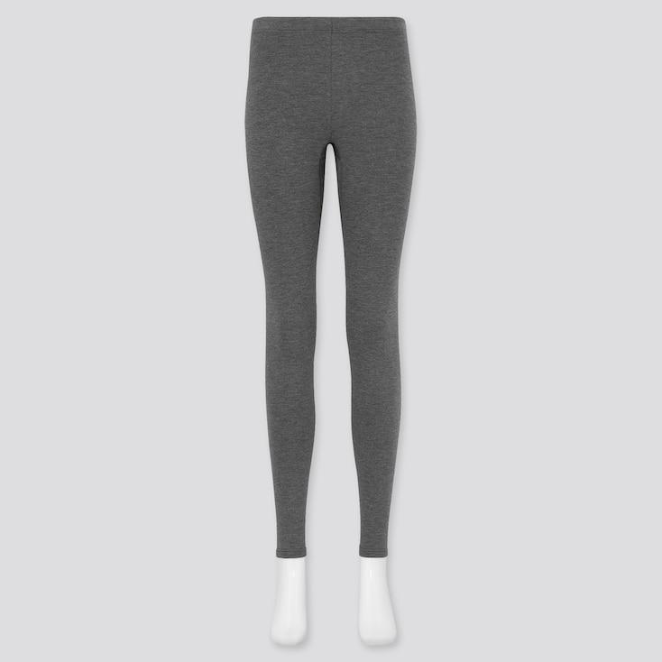 Women Heattech Ultra Warm Leggings, Dark Gray, Large