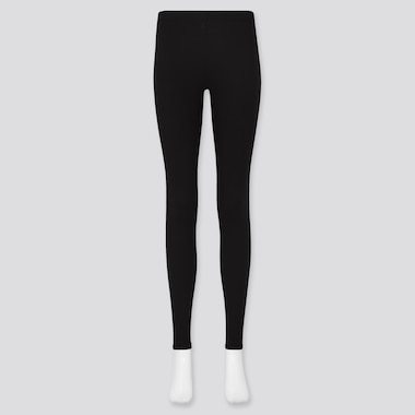 Women Heattech Ultra Warm Leggings, Black, Medium