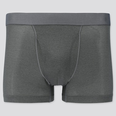 Men Airism Mesh Boxer Briefs Heather, Gray, Medium
