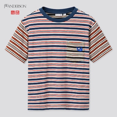Kids Striped Short-Sleeve T-Shirt (Jw Anderson), Blue, Medium