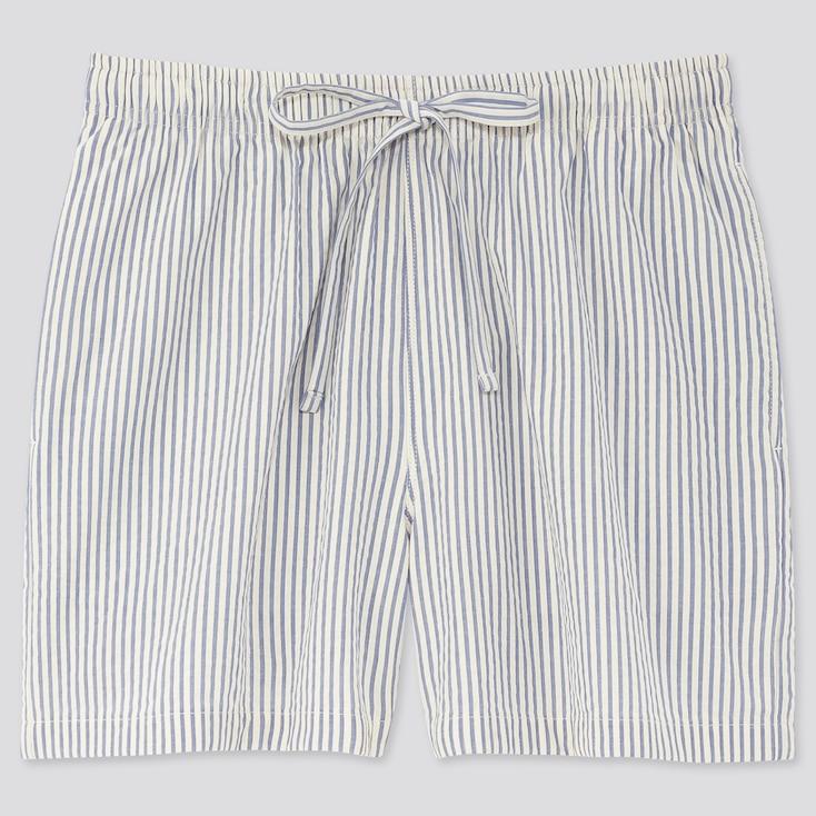 Women Joy Of Print Cotton Relaco Shorts, Blue, Large