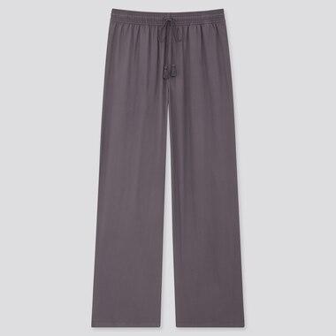 Pantalon Drapé Coupe Droite Femme
