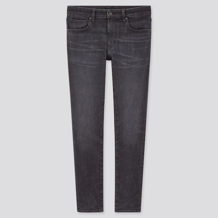 Men Ultra Stretch Skinny Fit Jeans, Gray, Large