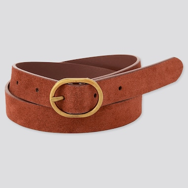 Women Suede Oval Belt