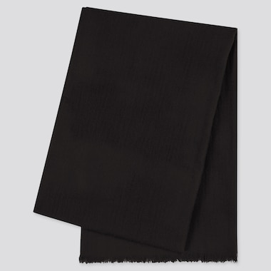 Cashmere Stole, Black, Medium
