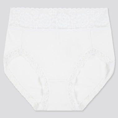Women High-Rise Briefs, White, Medium