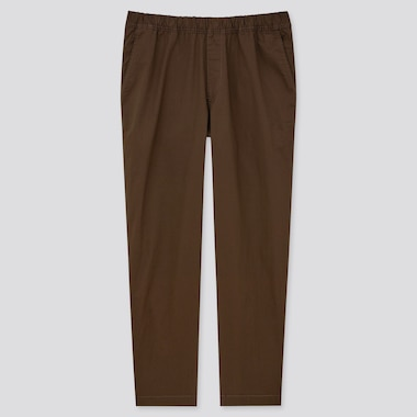 Men Cotton Relaxed Fit Ankle Pants