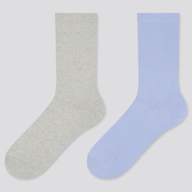 Women Heattech Socks (2 Pairs) (Online Exclusive), Gray, Medium