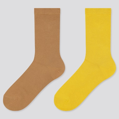 Women Heattech Socks (2 Pairs) (Online Exclusive), Beige, Medium