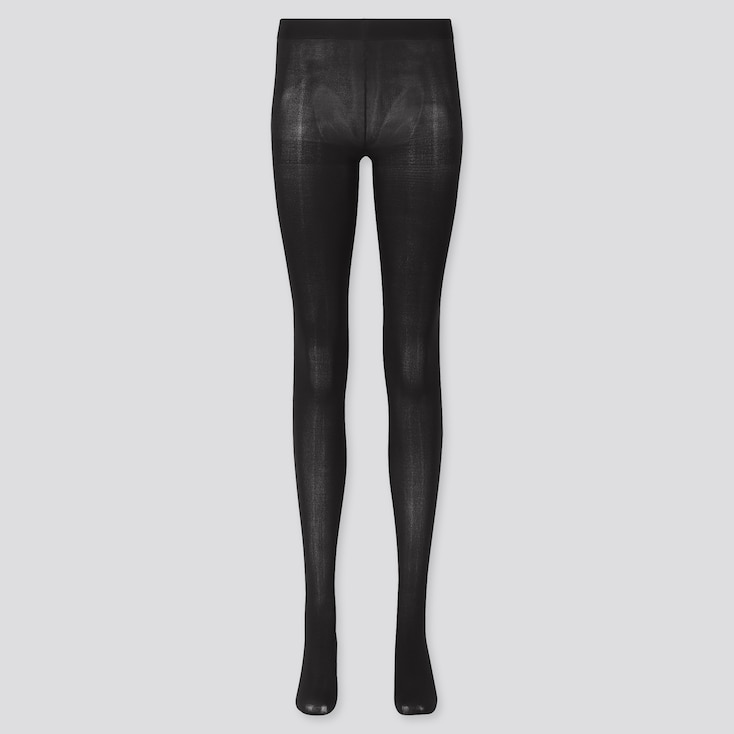 Women Heattech Tights (Online Exclusive), Black, Large