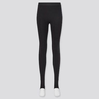 Women HEATTECH Extra Warm Fleece Lined Stirrup Thermal Leggings