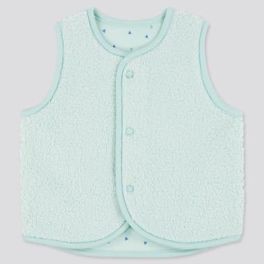 Babies Newborn Fluffy Yarn Fleece Reversible Vest