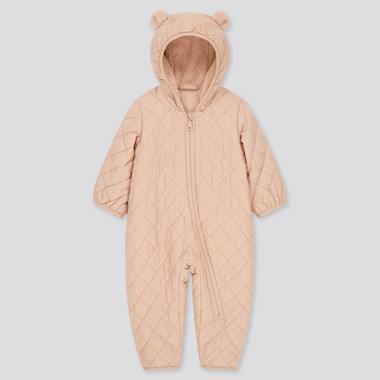 Newborn Warm Padded Long-Sleeve One-Piece Outfit (Online Exclusive), Pink, Medium
