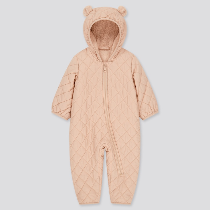 Newborn Warm Padded Long-Sleeve One-Piece Outfit (Online Exclusive), Pink, Large