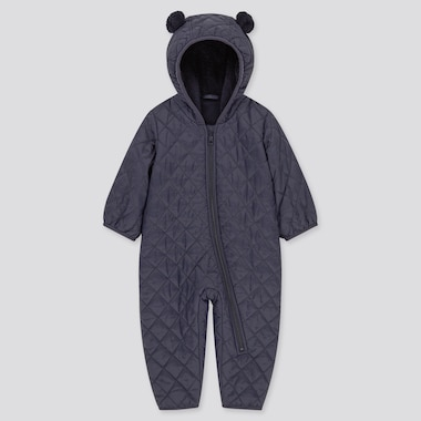 Newborn Warm Padded Long-Sleeve One-Piece Outfit (Online Exclusive), Navy, Medium