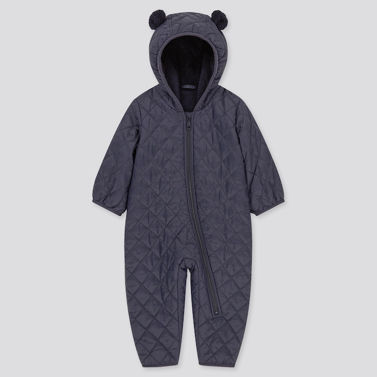 Newborn Warm Padded Long-Sleeve One-Piece Outfit (Online Exclusive), Navy, Large