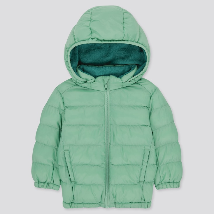 Toddler Light Warm Padded Full-Zip Parka, Green, Large