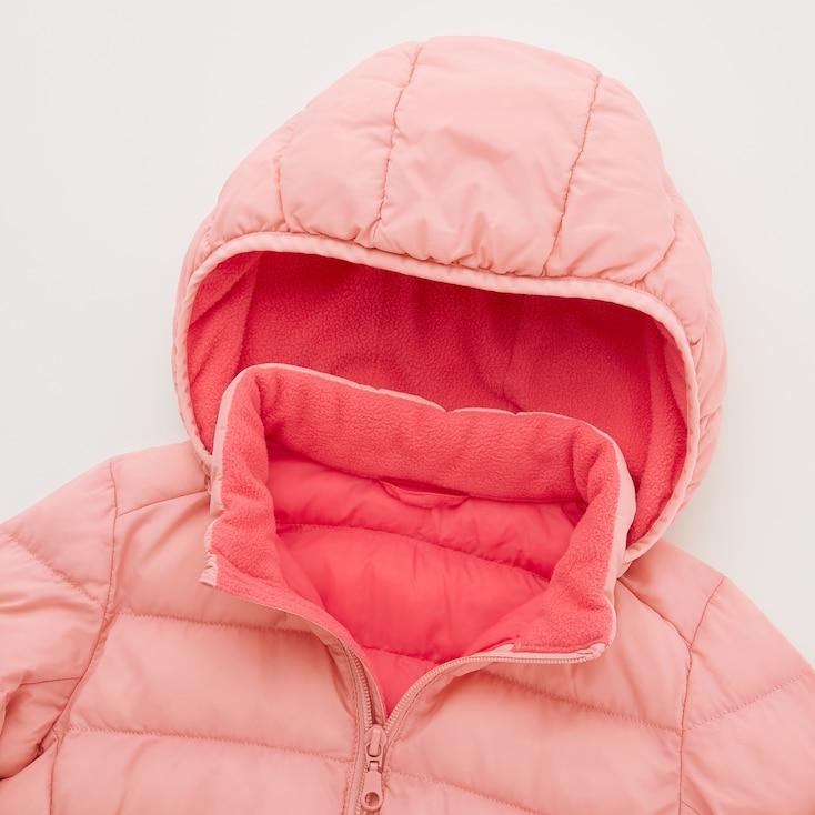 Toddler Light Warm Padded Full-Zip Parka, Pink, Large