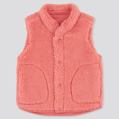Toddler Fluffy Yarn Fleece Vest, Pink, Medium