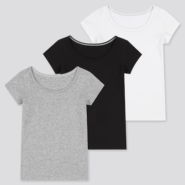 Babies Toddler Cotton Inner Short Sleeved T-Shirt (Three Pack)