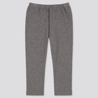 Baby Full-Length Fleece Leggings, Dark Gray, Medium