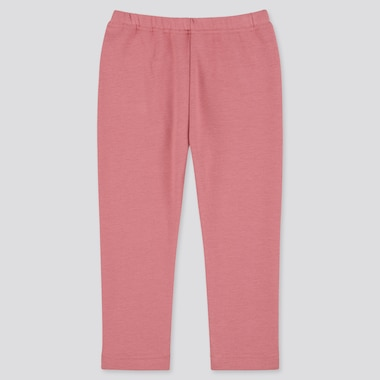 Baby Full-Length Fleece Leggings, Pink, Medium