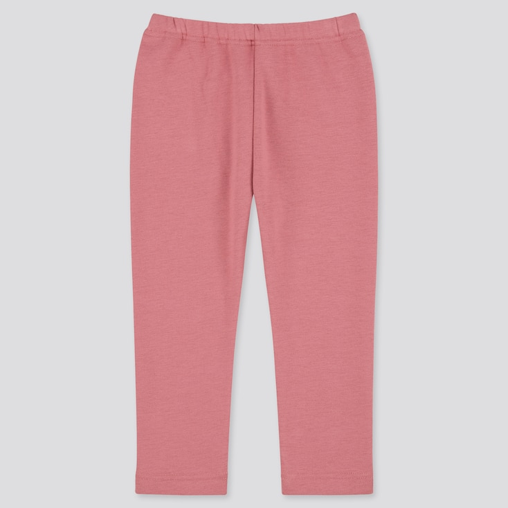 Baby Full-Length Fleece Leggings, Pink, Large
