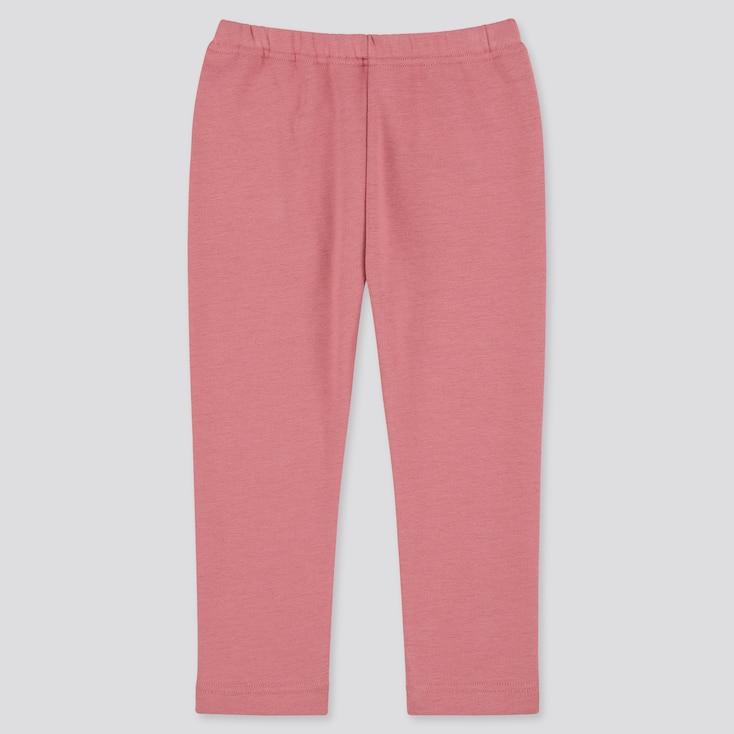 Baby Full-Length Fleece Leggings, Pink, Large
