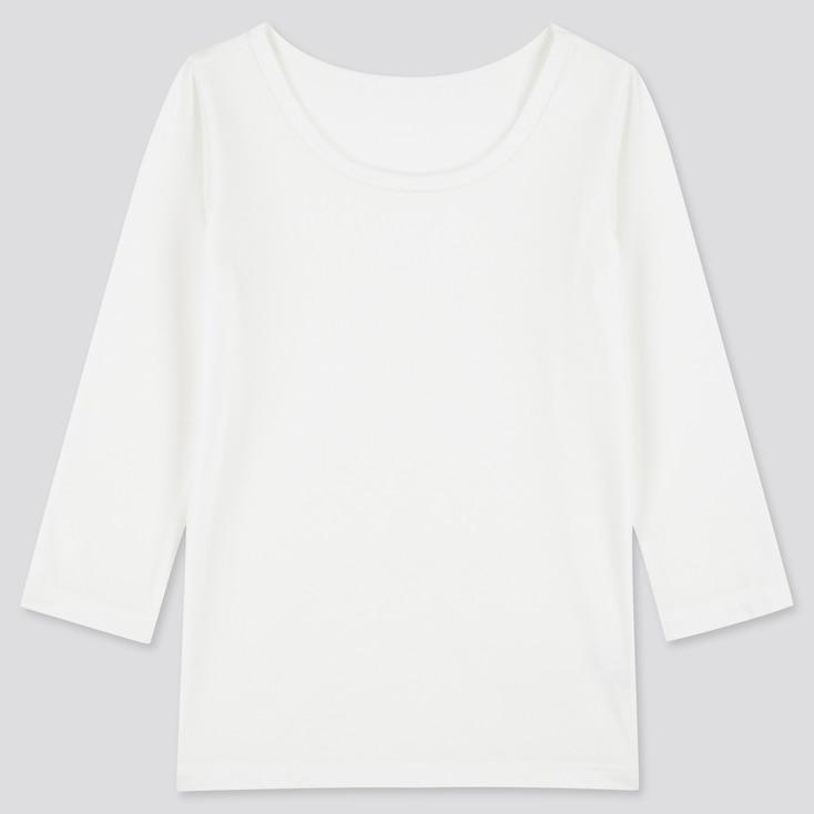 Toddler Heattech Scoop Neck Long-Sleeve T-Shirt, White, Large